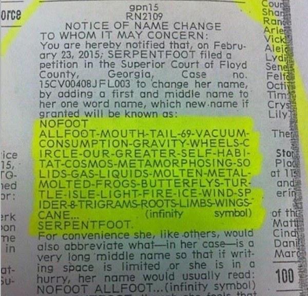Funny Names Nofoot Serpentfoot name image