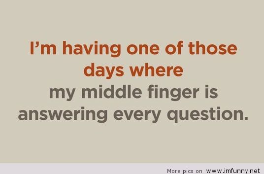 One Fingered Answers