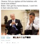 Travel Size Bottles obama biden meme