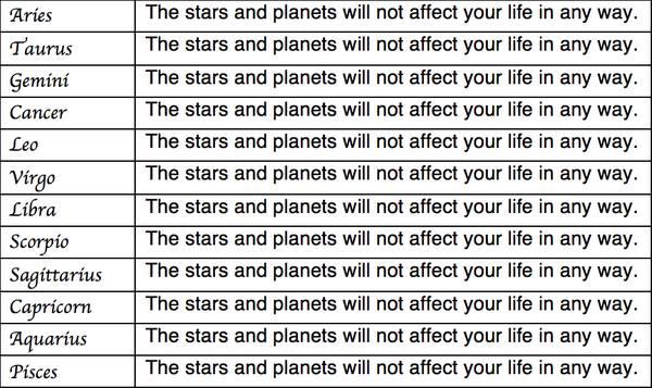 Horoscope For Skeptics image