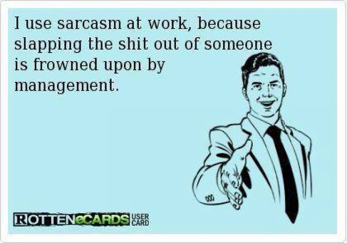 Sarcasm At Work image meme