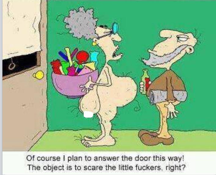 Trick or Treat Scare cartoon image