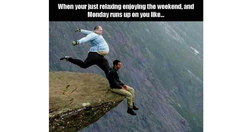 Monday Runs Up image on a cliff