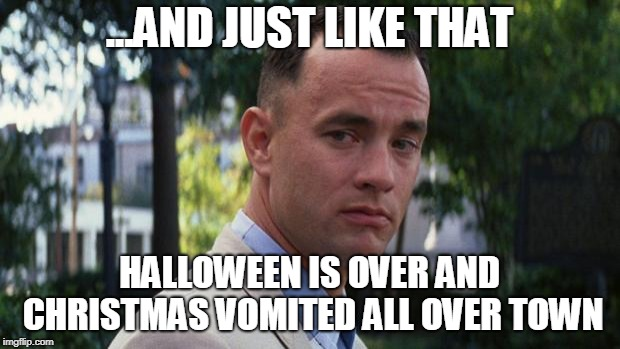 Christmas Vomited gump meme