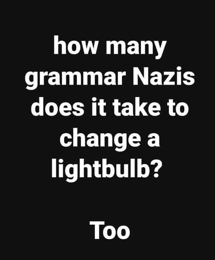 Grammar Nazi Work