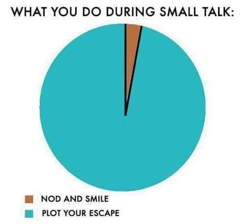 Small Talk image, what you do during