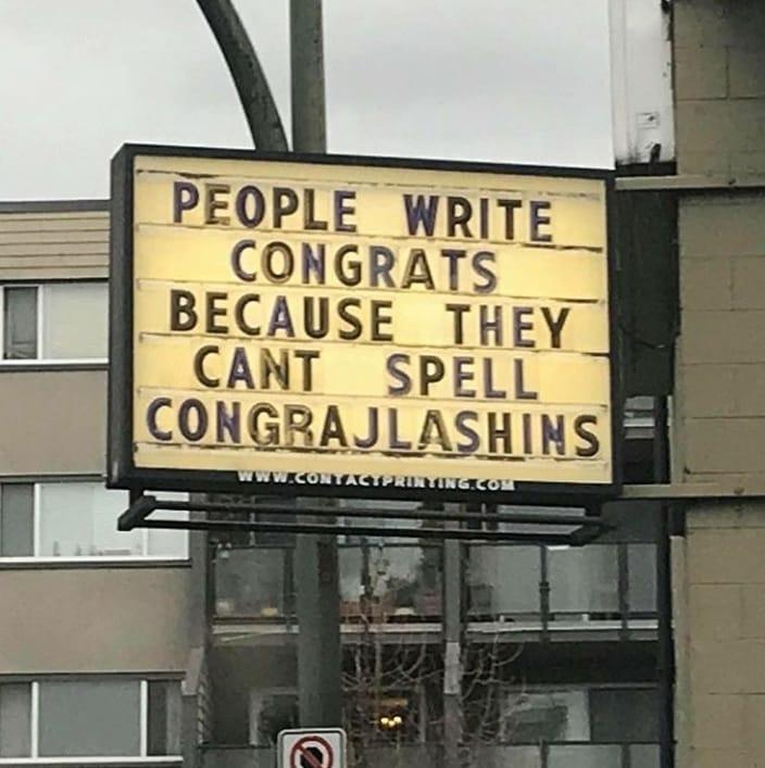 Writing Congrats