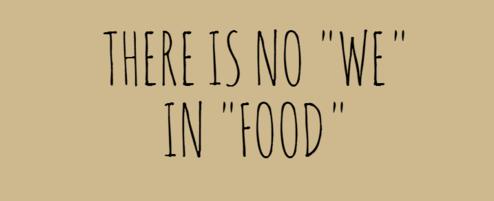No We in Food