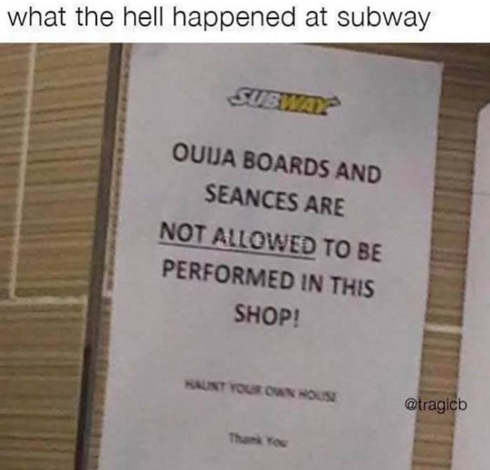 Not Allowed at Subway