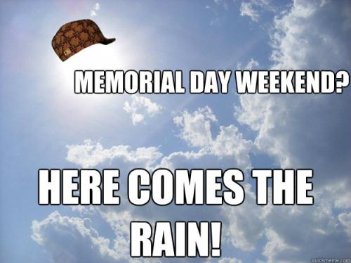 Memorial Day Weekend Rain