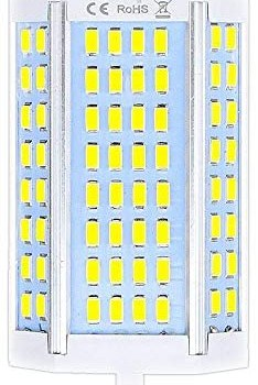 Luxvista 118mm J-Type Double Ended LED Bulbs 30W Dimmable R7S 118mm LED Lamp (300W J118 Halogen Bulb Replacement), J118 R7S LED Bulbs for Ceiling Light Floor Lamp