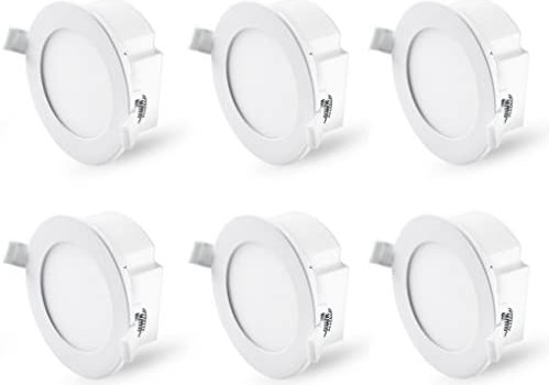 Hyperikon 4 Inch Recessed LED Downlight with Junction Box Dimmable, 8.5W=60W, Energy Star, UL, Crystal White, 6 Pack