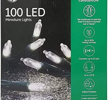 GE Energy Smart Colorite Miniature LED 100-Light Set Holiday, Party, Christmas – Pure White