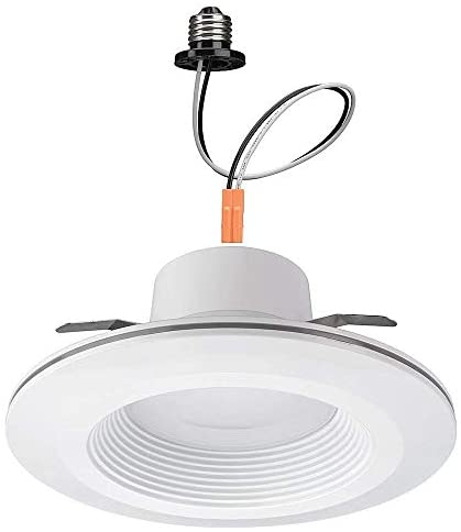 Commercial Electric 6 in. White Integrated LED Recessed Downlight with Nightlight Trim