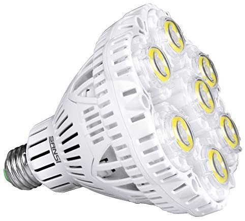 (Updated) SANSI 40W LED Light Bulb, 300-350W Equiv, 5000K Daylight, 5500lm Bright Bulb, Non-Dimmable, CRI 80, E26 to E39 adapter, BR30 Floodlight for Warehouse Church Barn Supermarket Logistic Center