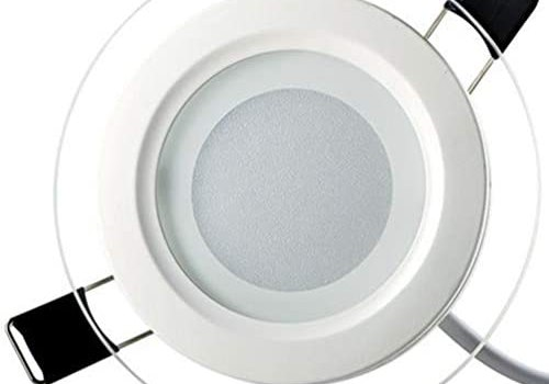 AdaAda Dimmable Led Glass Downlight Round Glass Panel Lights Ceiling Recessed Lamp White 200Mm