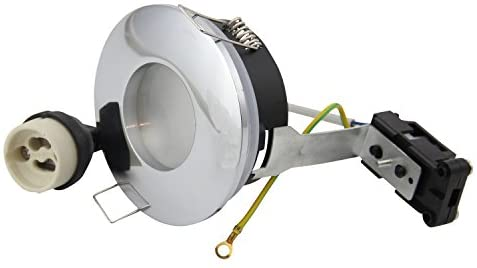 Recessed Round LED Downlights Frame Fittings IP65 230V GU10 Socket Holder for 50mm LED and Halogen Bulbs