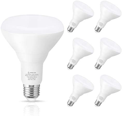 LOHAS BR30 LED Bulb, 10W(65W Equivalent) Flood Light Bulb, 700LM Daylight 5000K Color, E26 Medium Base for Recessed Can Use, 180 Degrees Beam Angle, UL Listed, Perfect for Home Hallway Office, 6 Pack