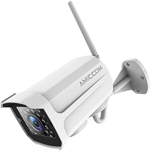 Outdoor Security Camera, 1080P WiFi Camera Surveillance Cameras, IP Camera with Two-Way Audio, IP66 Waterproof, Night Vision, Motion Detection, Activity Alert, Deterrent Alarm – iOS, Android
