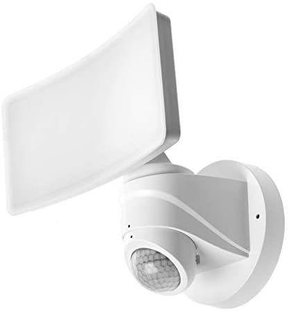 Home Zone Security Motion Sensor Light – Outdoor Weatherproof Wide Coverage LED Security Flood Light