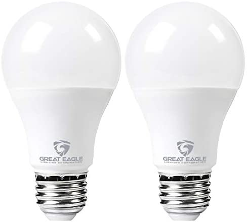 Great Eagle LED 23W Light Bulb (Replaces 150W – 200W) A21 Size with 2610 Lumens, Non-Dimmable, 3000K Bright White, UL Listed (2-Pack)
