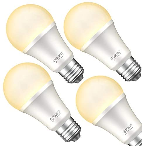 Gosund Smart Light Bulb Works with Alexa, Google Home, WiFi LED Bulb, E26 Dimmable Smart Bulb A19 No Hub Required 2700K Warm White 8W Lights 75W Equivalent Lighting 4pack