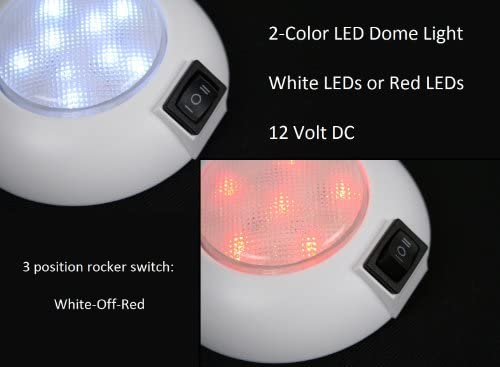 LED Dome Light – 4″ High Power White LED Downlight – 12 Volt – Fixed Mount – for Home, Auto, Truck, RV, Boat and Aircraft
