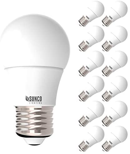 Sunco Lighting 12 Pack A15 LED Bulb, 8W=60W, 5000K Daylight, Dimmable, 800 LM, E26 Base, Indoor/Outdoor Light – UL, Energy Star