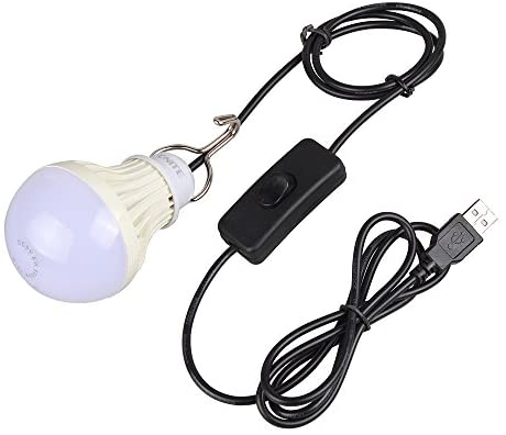 Onite 20-US24USB3W-WW USB Camping, Also for Garage Warehouse Car Truck Fishing Boat Outdoor Portable LED Bulb, Emergency Light, or Children Bed Lamp, WarmWhite, Warm White