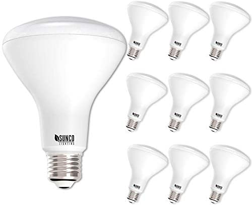Sunco Lighting 10 Pack BR30 LED Bulb 11W=65W, 5000K Daylight, 850 LM, E26 Base, Dimmable, Indoor Flood Light for Cans – UL & Energy Star