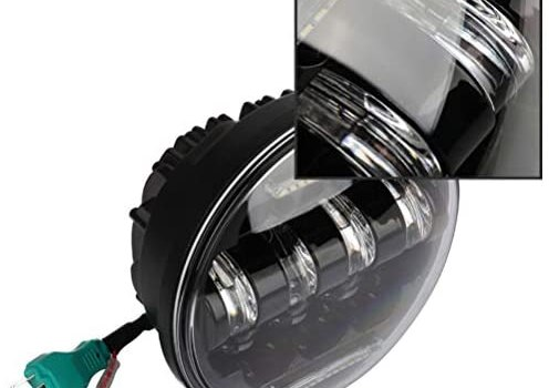 Round LED Motorcycle Headlight following motorcycle:) Harley Davidson Models Dyna Switchback FLD: 2014, 2016