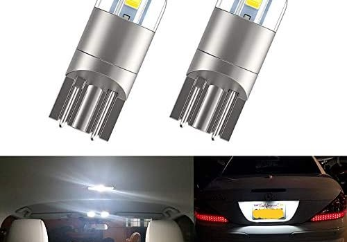 194 LED Bulbs T10 LED Bulbs, 168 LED Bulb,Bright Upgrade 3030 chips 175 2825 W5W LED Bulbs for Car Interior Dome Map Door Courtesy License Plate Lights, 6000K Xenon White Pack of 2
