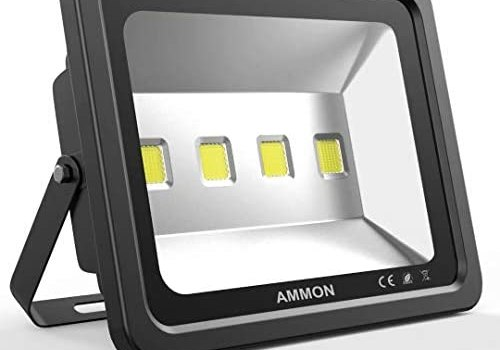 AMMON 200W LED Outdoor Flood Lights – 20000lm Super Bright Outside Floodlights, IP65 Waterproof Exterior Security Lights, 6000K Daylight White Lighting for Playground Yard Stadium Lawn Ball Park