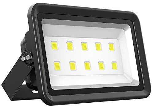 Dimgogo LED Flood Light 500W, Outdoor Waterproof IP65 50000lm Super Bright Flood Lamp Cool White 6000K Spotlight Lamp Daylight for Garden Yard, Party, Playground, Stadium and Square