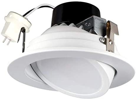 Low Voltage Dimmable Adjustable Round LED 4″ Downlight 12V, 8.5W, 620 Lumens, Fits Most MR-16 4inch cans and Works only with Magnetic Transformer