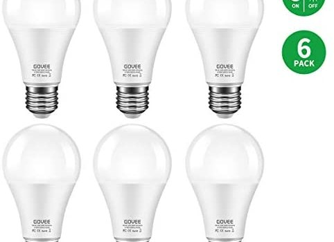 Govee LED Dusk-to-Dawn Light Bulbs, 7W 600lm Smart Sensor Automatic Bulb with Auto on/Off, 30,000 Hour Lifetime, Indoor/Outdoor Lighting Lamp for Porch, Hallway, Garage (E26 Base, Soft White, 6 Pack)