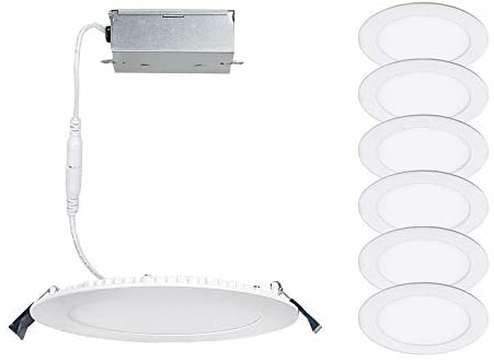 WAC Lighting R6ERDR-W930-WT-2 Lotos 6in Round Remodel Kit 3000K in White (Pack of 2) LED Light Fixture, 2 Pack, Slim Downlight, 2 Piece