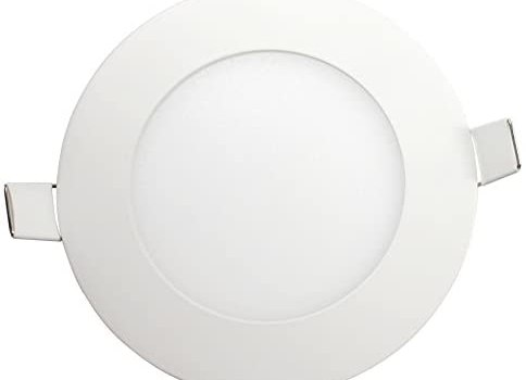 CMC 3 Inch 4W Recessed Lights Ultra Thin Ceiling LED Panel Downlight Light 100-240V Pack of 1 (Cool White, 4W)
