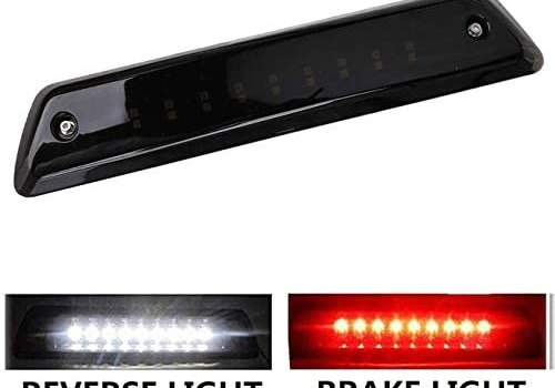 LED 3rd Brake Light Compatible with Ford F150 2009 2010 2011 2012 2013 2014 Reverse Lamp High Mount Tail Light Smoke Lens Waterproof