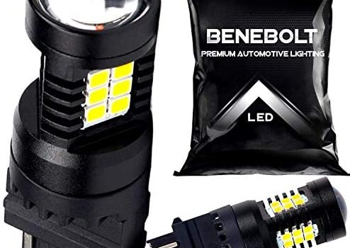 3157 LED bulb – 3156 LED Reverse light – 2800 Lumens 6000K White 3057 4157 LED Bulb – Super Bright LED Reverse lights Tail Light bulb to increase visibility – Heavy duty pins and cooling vent BENEBOLT