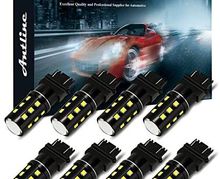 3157 3156 3057 3157A 4057 4157 LED Bulb White, Antline Super Bright 1200 Lumens 24-SMD LED Replacement Lamp for Car Backup Reverse Brake Tail Turn Signal Daytime Running Parking Lights (Pack of 8)