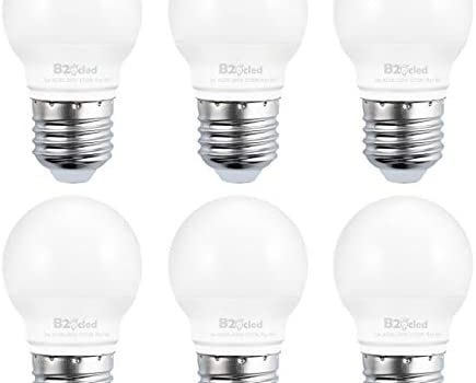 B2ocled Led Light Bulbs, 3W(25W Equivalent), Soft White 2700K, A15 Golf Ball Shape, E26/E27 Based Standard Replacement, 240 Lumens, CRI 90+, 6-Pack