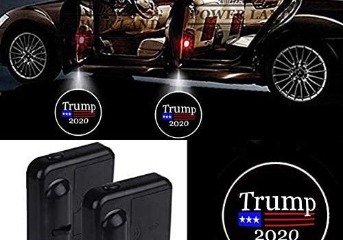 Fit Donald Trump 2020 Car Door Led Welcome Laser Projector Car Door Courtesy Light Suitable Fit for all brands of cars (Fit Trump 2020)