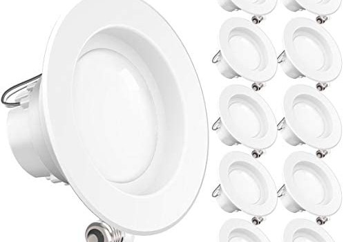 Sunco Lighting 10 Pack 4 Inch LED Recessed Downlight, Smooth Trim, Dimmable, 11W=40W, 3000K Warm White, 660 LM, Damp Rated, Simple Retrofit Installation – UL + Energy Star