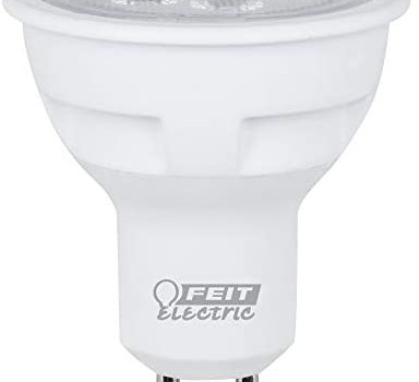 Feit Electric Electric Bpmr16/Gu10/800/L Dimmable Led Lamp, 75 W, 120 Vac, Gu10 Base, Warm, 790 Lumens, 25000 Hr, White, Product Specific