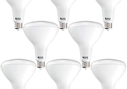 Sunco Lighting 8 Pack BR40 LED Bulb, 17W=100W, Dimmable, 6000K Daylight Deluxe, 1400 LM, E26 Base, Indoor Flood Light for Cans – UL & Energy Star