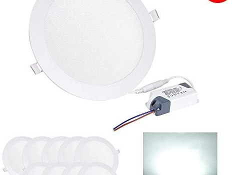Yescom 15W 7″ LED Recessed Panel Ceiling Light Ultra-thin 1000LM Cool White 125W Equivalent Downlight (Pack of 20)