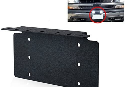 TOPNEW Universal License Plate Mounting Bracket Steel for 6″ 7″ 12″ 17″ 20″ Led Light Bar Spot Lights for SUV Car 4×4 Jeep