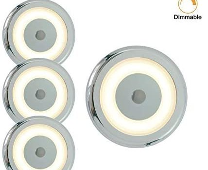 12V RV Ceiling Light Dimmer Switch LED – 3W 2800K Warm White Waterproof Lamp, Surface Mounted, Can be Used in Caravan, on Yachts or Boat, as an Interior Lamp at Motorhome also in Office, Pack of 4