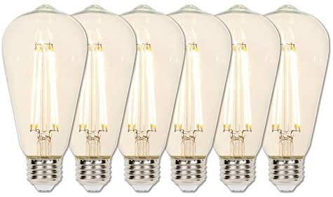 Westinghouse Lighting 3518320 60-Watt Equivalent ST20 Dimmable Clear Filament LED Light Bulb with Medium Base, Six Pack